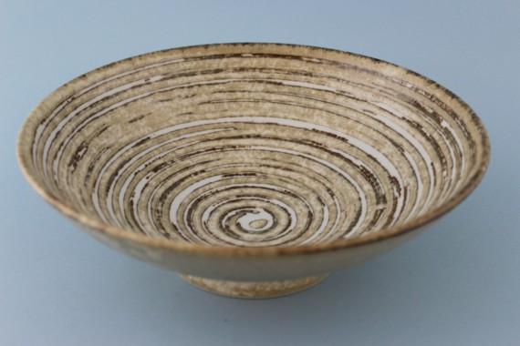 Bowl - Concentric Rings - Cream