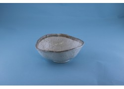Bowl - Irregular - Beige w/Grey Rim