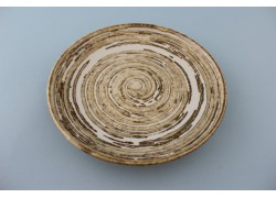 Plate - Concentric Rings - Cream