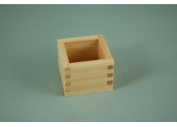 Sake Cup (Wood - Hinoki Cypress) - Square