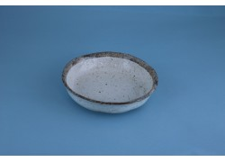 Bowl - Beige w/Grey Rim